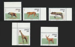 Senegal 1993 **  Yvert 1041/1045 ** Animaux Sauvages Wild Animals Leopard Hyene Cerf Lionne Girafe - Senegal (1960-...)