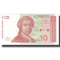 Billet, Croatie, 10 Dinara, Undated (1991), 1991-10-08, KM:18a, SPL - Croatie