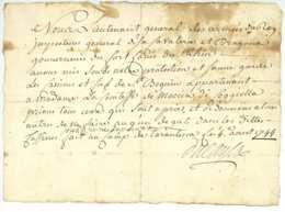 Guerre De La Succession D'Autriche 1744 TARANTASCA Piemont Lieutenant General DU CAYLA (1688-1766) Sauvegarde - Documents Historiques