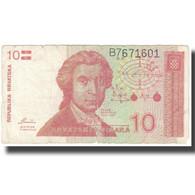 Billet, Croatie, 10 Dinara, Undated (1991), 1991-10-08, KM:18a, TB - Croatie