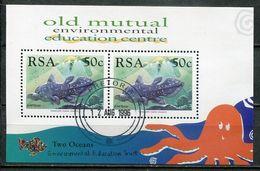 Südafrika South Africa Mi# Block 57 Gestempelt(FDC/SST)/used/CTO - Fauna Fish - Ohne Zuordnung