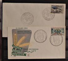 07 - 20 - Algérie - 2 Enveloppes 1er Jours - Algérie (1962-...)