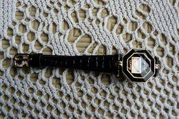 Montre LCD Quartz  Judy Lipson -  Bracelet  D'origine En Plastique Noir - Bijoux & Horlogerie