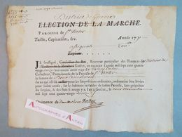 1791 - Paroisse De Saint Victor En Marche (Creuse) District De GUERET - Impôts Payés En Assignats M. Dulac - Révolution - Documents Historiques