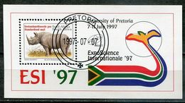 Südafrika South Africa Mi# Block 60 Gestempelt(FDC/SST)/used/CTO - Fauna Rhino, Science Expo - Ohne Zuordnung