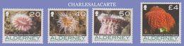 ALDERNEY AURIGNY 2007  MARINE LIFE 4 NEW VALUES DEFINITIVES 20p-£4  U.M.  N.S.C. - Alderney