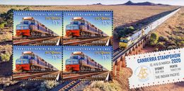 Australia - 2020 - 50 Years Of Transcontinental Railway - Indian Pacific - Canberra Stampshow 2020 - Mint Souvenir Sheet - 2010-... Elizabeth II