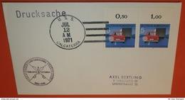 BUND BRD 670 Rand - Verkehr Auto --- USA Schiffspost 12.07.1971 USS Calcaterra DER-390 --- Brief (2 Foto)(72449) UFO - [7] Federal Republic