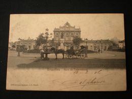 BRUXELLES 1906- GARE DU LUXEMBOURG - KOETS / ATTELAGE - Monuments, édifices