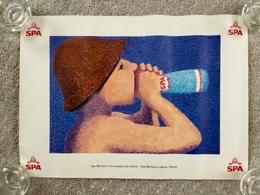 AFFICHE ANCIENNE PUBLICITAIRE «SPA- MONOPOLE «SPA BARISSART A LA MANIÈRE DE SEURAT PEU COURANTE - Affiches