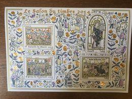 FRANCE 2014 SALON DU TIMBRE BF135 SAINT LOUIS BOUVINES MURET TOURNOEL - Blocs Souvenir