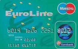 GREECE - Euroline, Eurobank Credit Card(reverse Axalto, Tel: 801-111-1144), 06/04, Used - Geldkarten (Ablauf Min. 10 Jahre)
