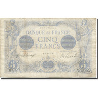 France, 5 Francs, Bleu, 1917, 1917-01-15, TB, Fayette:02.47, KM:70 - 1871-1952 Antiguos Francos Circulantes En El XX Siglo
