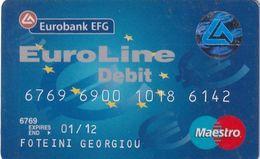 GREECE - Euroline, Eurobank Maestro(reverse Picappa, Tel: 801-111-1144), 05/08, Used - Geldkarten (Ablauf Min. 10 Jahre)