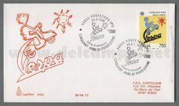 C8854 Italia FDC 1996 50 ANNIVERSARIO DELLA PRODUZIONE DELLA VESPA CAPITOLIUM VG - 6. 1946-.. República