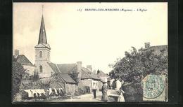 CPA Brains-s /Les-Marches, L`Eglise Avec Trocknender Wäsche über Zaun - France