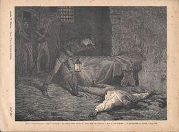 Ruffini Deliberatamente Si Tagliò Un'arteria..... Stampa 1891 - Documentos Antiguos