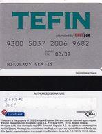 GREECE - Tefin By Unit Fin, EFG Eurobank Debit Card(reverse TAG Systems, Tel: 1144), 04/03, Used - Geldkarten (Ablauf Min. 10 Jahre)