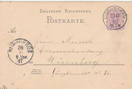 France Alsace Entier Postal Bischweiler 1887 - Marcofilia (sobres)