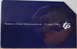 PO122 - POLONIA - POLSKA , URMET - 25 -  GIORNATA MONDIALE DELLE TELECOMUNICAZIONI 1998 - Pologne