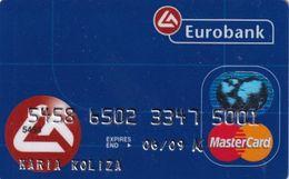 GREECE - Eurobank MasterCard(reverse ICA Picappa, Tel : 801-111-1144), 07/05, Used - Carte Di Credito (scadenza Min. 10 Anni)