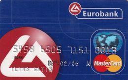 GREECE - Eurobank MasterCard(reverse ICA TAG Systems, Tel : 801-111-1144), 09/03, Used - Carte Di Credito (scadenza Min. 10 Anni)