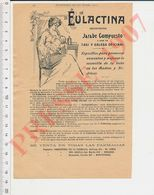 2 Scans Publicité Eulactina Allaitement Maternel Lait Bébé Desinfectante Cesar De La Serna Buenos Aires Vapopatia CHV39 - Zonder Classificatie