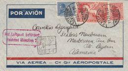 Uruguay Lettre Par Avion Pour L'Allemagne 1932 - Uruguay