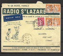 LETTRE A EN TETE RADIO ST LAZARE CINE PHOTO TSF DISQUES  POUR LE TCHAD DESSIN DE POULBOT PETITS DEFAUTS - Marcophilie (Lettres)