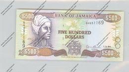 BANKNOTE - JAMAICA, Pick 77, 500 Dollar, 1994, Unc. - Jamaique