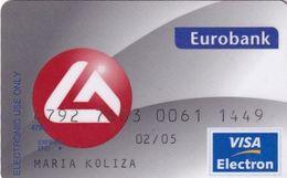 GREECE - Eurobank Visa(reverse Oberthur, Tel : 801 111 1144), 06/03, Used - Cartes De Crédit (expiration Min. 10 Ans)