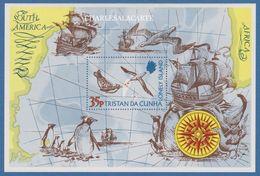"TRISTAN DA CUNHA 1974 M.S. ""THE LONELY ISLAND"" M.S. PENGUINS ALBATROSS ETC. S.G. MS 192 - Tristan Da Cunha"