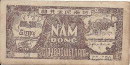 VIET NAM  5 DONG ND1948 VF P 17 - Vietnam