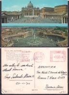 C. Postale - Vaticano - Citta' Del Vaticano - Basilica E Piazza S. Pietro - 1970 - Circulee - Cygnus - Musées