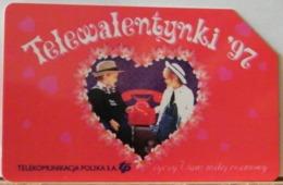 PO126 - POLONIA - POLSKA , URMET - 25 - TELEVALEALENTYNKI 97  - SAN VALENTINO - TELEVALENTINO 97 - Pologne