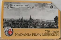 PO128 - POLONIA - POLSKA , URMET - 50 - LECIE - CONSEGNA DELLE LEGGI SULLA CITTA' - ELBLAG - Pologne