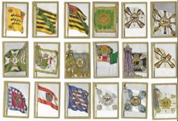18 Chromos N° 4,16,27,72,105,108,115,129,131,133,141,169,172,198,213,222,226, 233 - Cig. Bulgaria - Drap. All. - Cigarette Cards