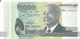 CAMBODGE 2000 RIELS 2013 UNC P 64 - Cambodge