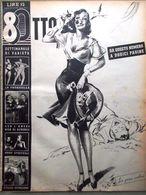 Rivista 8 Otto Del 13 Aprile 1947 Spiritual Janis Paige Storia Del Bacio Peack - Livres, BD, Revues