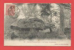 """C.P.A.  ( 77 ) """" FONTAINEBLEAU """"  Forêt De Fontainebleau - La Tortue D'Apremont  2phot. - Fontainebleau"""