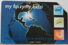 PO132 - POLONIA - POLSKA , URMET - 50 - MY TACZYMY LUDZI, ABBIAMOPERSONE  TP - TELEKOMUNIKACJA - Pologne