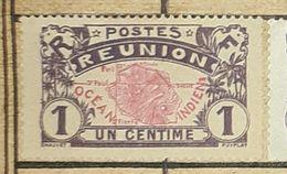 REUNION 1 C,1907,1 C-USED STAMP - Usados