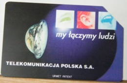 PO134- POLONIA - POLSKA , URMET - 50 - MY TACZYMY LUDZI, ABBIAMOPERSONE  TP - TELEKOMUNIKACJA - Pologne