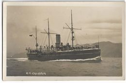 137402 SHIP BARCO R. N CALABRIA NAVIGATION ITALY POSTAL POSTCARD - Unclassified