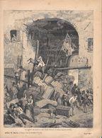 Un Episodio Alle Barricate Nelle Cinque Giornate Di Milano. Stampa 1891 - Documentos Antiguos
