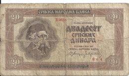 SERBIE 20 DINARA 1941 G P 25 - Serbia