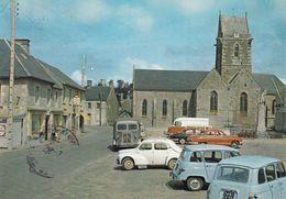 Lingeville La Place Avec Vieille Renault L Et 2  Tub Citroën H  Pub Pile Wonder 1967 Tres Belle - Frankreich
