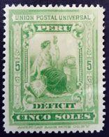 Pérou Peru 1899 Taxe Tax Yvert T38 * MH - Peru