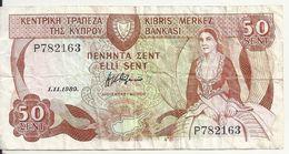 CHYPRE 50 CENTS 1989 VG+ P 52 - Chipre