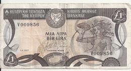 CHYPRE 1 POUND 1987 VG+ P 53 A - Chipre